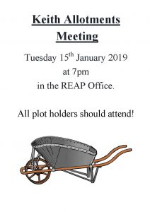 Keith Allotment Meeting @ REAP Office | Scotland | United Kingdom
