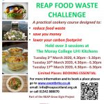 REAP's Food Waste Cookery Course (Part 1) @ Moray College UHI @ Moray College UHI