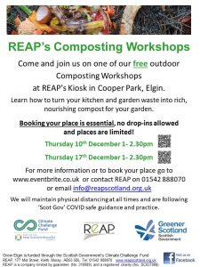 REAP's Composting Workshop @ REAP's Kiosk, Cooper Park
